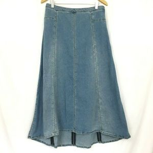 Soft Surroundings Denim Skirt Medium Stretch Long